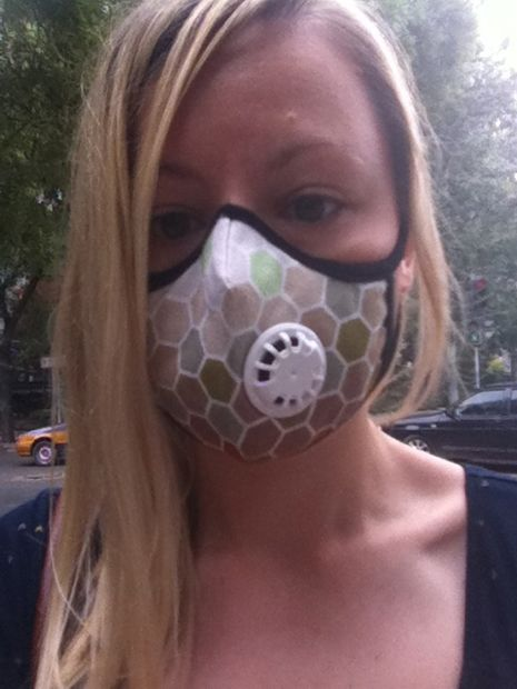 Pollution Mask Beijing- I wear it on very high pollution days. If I wore it on just 'high' pollution days and not 'very high' days I'd hardly have it off!