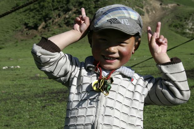 Tibetan Nomad Boy- he loved posing for photos