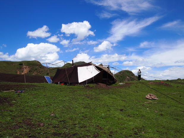 The yak hair yurt we slept in