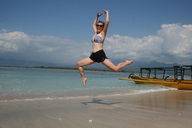 Jumping on Gili Air