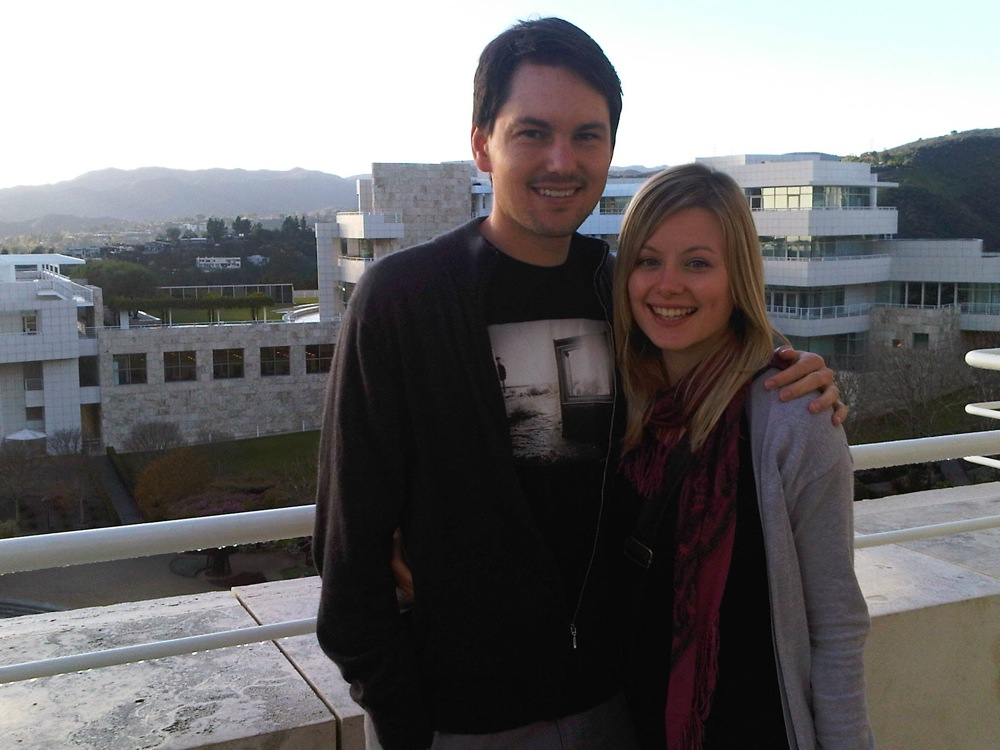 The Getty L.A Another pic from a previous California visit. See how young we look, this was clearly not taken recently!