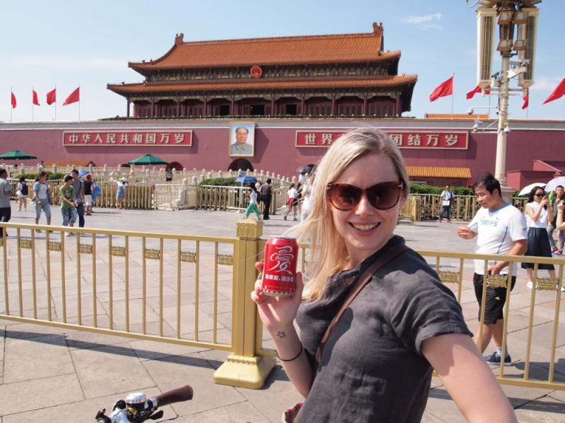 Coke and Mao, Tiananmen. There are just so many comments I could make about this photo!