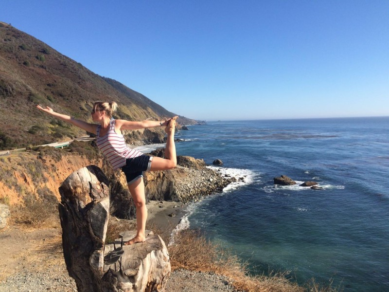 Yoga at Big Sur