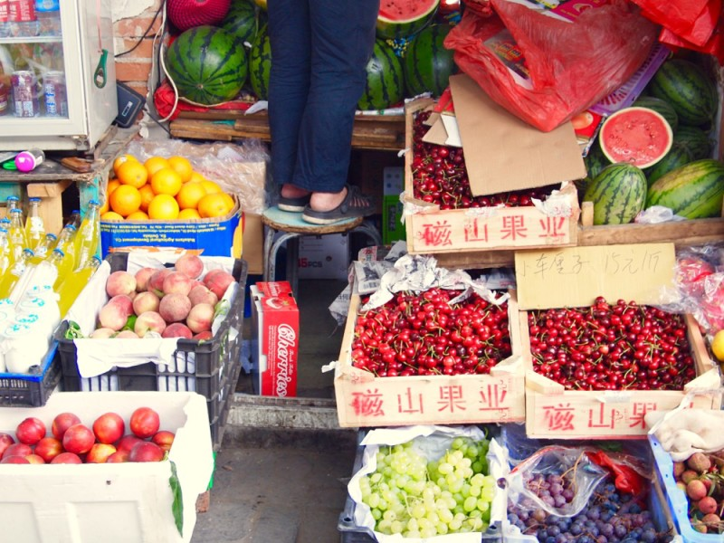 Fruit and vegetables, hutong, Beijing