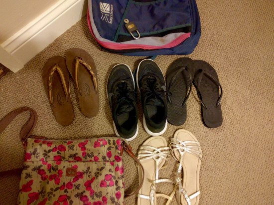 Nicaragua Packing List Shoes and Bags