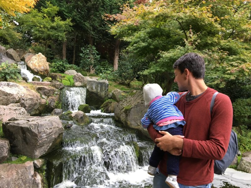 Hollan Park London with baby