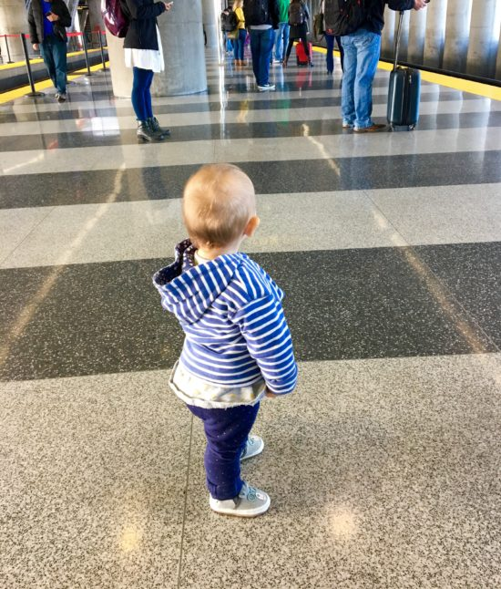 San Francisco Train Station with baby